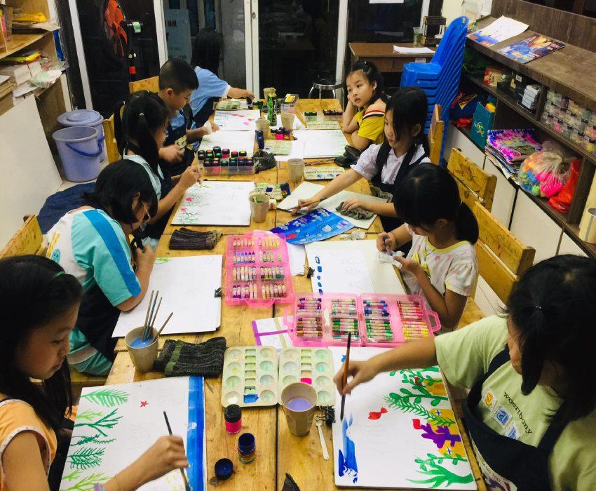 lớp vẽ sáng tạo Sky Art tại thủ đức