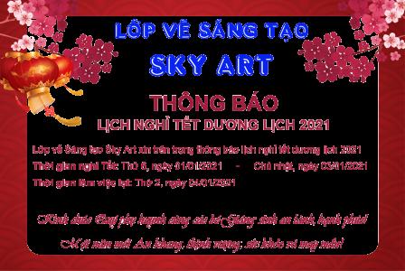 Sky Art - Lịch nghỉ tết dương lịch 2021
