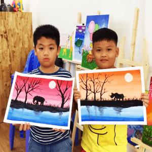 Sky Art - Lớp vẽ mỹ thuật sáng tạo cho bé